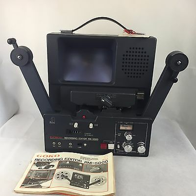 Goko - 8mm Film - Recording Editor - RM-5000 - With Manual and Cover