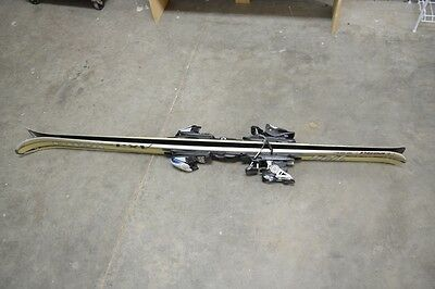 Volkl 724 AX3 skis with binding, 1.63m