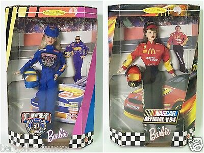 Lot Of 2 Nascar Barbies 50Th Anniversary Nascar Official #94 Nrfb