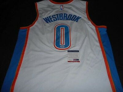 Signed Russell Westbrook OKC Thunder NBA Basketball Jersey Autographed with COA