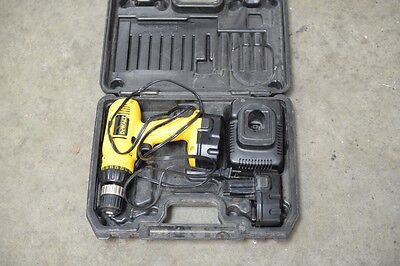 Dewalt DW 954 cordless drill with 2 batteries, charger and case