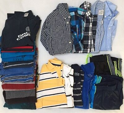 Huge Lot Of 20 Boys 10/12 Shirts Tops And 2 Athletic Pants