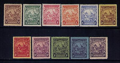 BARBADOS STAMPS SC# 165/179 SET Missing 169;172;178 MH OG  WMK 4