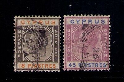 CYPRUS  STAMPS SC# 106-7 USED Cat.$48.25