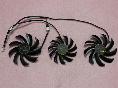 75mm + 85mm Sapphire AMD TOXIC R9 270X Tri-X R9 280X Triple Fan Replacement 4Pin