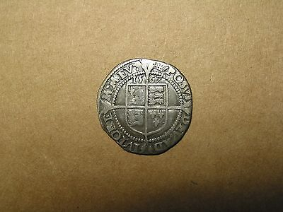 ENGLAND (Britain--UK) 1567 Hammered SILVER SIXPENCE - QUEEN ELIZABETH I