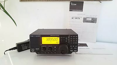 Icom IC-R75  Communications Receiver HF Six Meter DSP C MY OTHER HAM RADIO GEAR