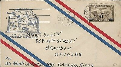 1933 Cameron Bay,NWT to Camsell River,NWT FFC