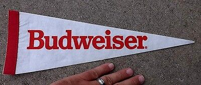 "Budweiser Beer Pennant Advertising Banner Flag 14"" Nice Free Shipping"