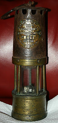Antique Miner's Lamp - Hailwoods  Type 01 England Found Here In Newewfoundland