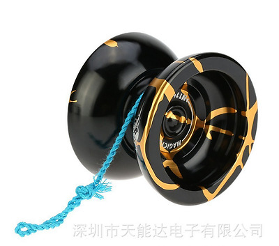 Aluminum Alloy Kids Professional Magic YOYO Ball N11 Splash  Toys Gift Black KP