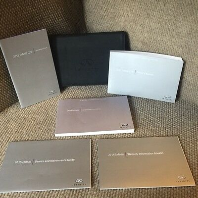 2015 Infiniti Q70 Owners Manual with Navigation book, supplements and case