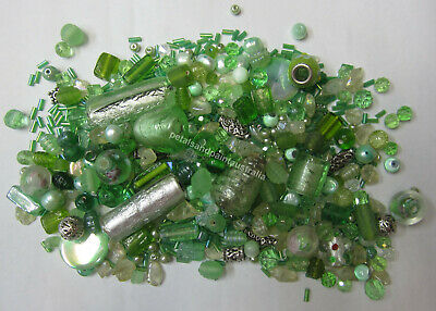 Mint & Green Bead Mix Foil, Glass, Metal, Pearl Lampwork, Mixed & Assorted Beads