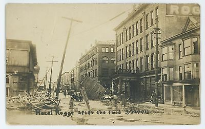 RPPC Hotel Kogge Flood ZANESVILLE OH Muskingum County Ohio Real Photo Postcard