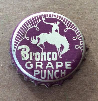 Bronco Grape Punch Soda--Cork Lined--Soda Bottle Caps !!