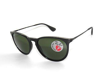 Ray Ban Sunglasses 4171  ray ban 4171 601 2p erica shiny black green polarized new