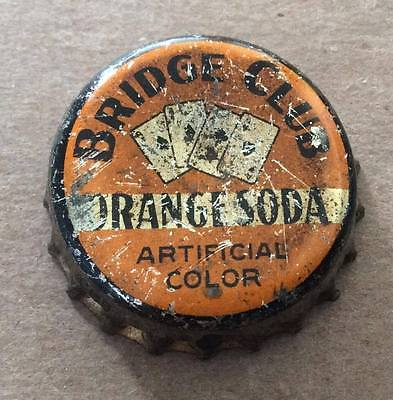 Bridge Club Orange Soda--1940's--Soda Bottle Caps !!