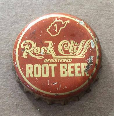 Rock Cliff Root Beer--West Virginia Tax Stamp--1940's--Soda Bottle Caps !!