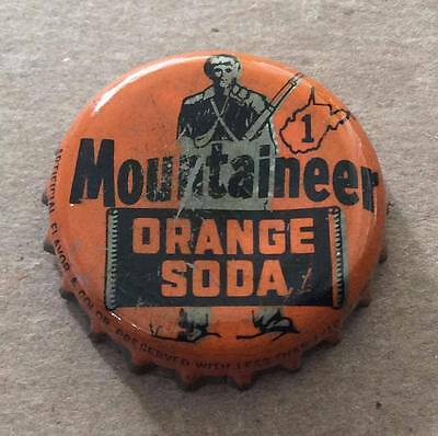 Mountaineer Orange Soda--West Virginia Tax Stamp--1940's--Soda Bottle Caps !!
