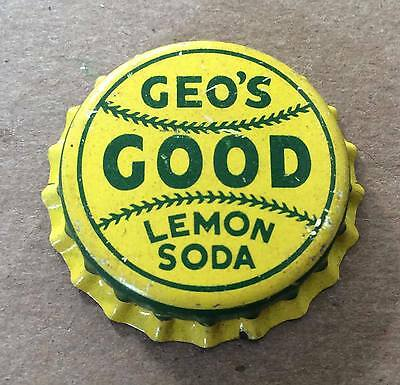 Geo's Good Lemon Soda--1940's--Soda Bottle Caps !!