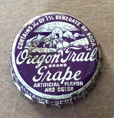 Oregon Trail Brand Grape Soda--1940's--Soda Bottle Caps !!