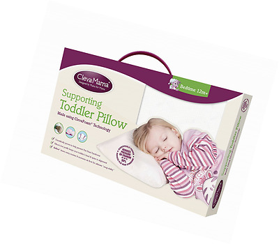 Clevamama Foam Toddler Head Support Pillow Bed Breathable Removable Cover Baby
