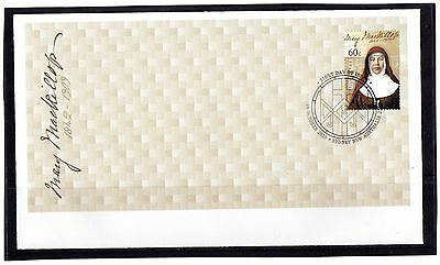 2010 60c Australia Mary Mackillop First Day Cover, Mint Condition