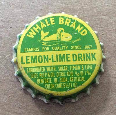 Whale Brand Lemon-Lime Drink--1940's--Soda Bottle Caps !!