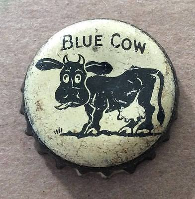 Blue Cow Soda--Rare !!!--1930's--Soda Bottle Caps !!