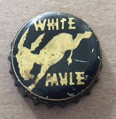White Mule Soda--Rare !!!--1930's--Soda Bottle Caps !!