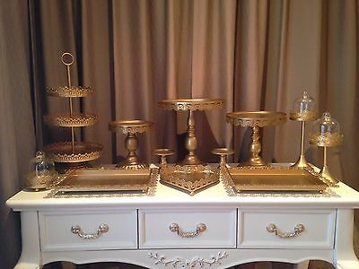 Set of 12 Pieces Gold Cupcake Cake Stand Dessert Candy Bar
