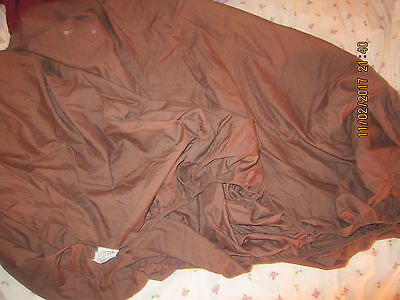 Brown Dunelm Mill Easy Iron Fitted Double Bed Base/mattress Sheet Cover