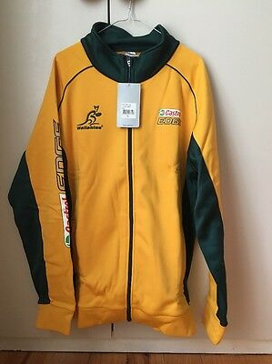 Asics Wallabies Castrol Edge Green And Gold Zip Front Jacket Size XL NWT