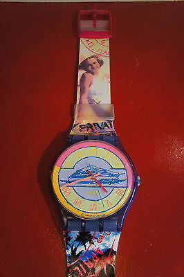 Gigantic 1990's Vintage Maxi Swatch Wall Clock