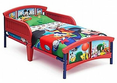 delta disney mickey mouse plastic toddler bed furniture bedroom kids children