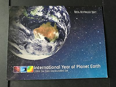 2008 UNC Coin Mint Set - International Year of Planet Earth minus the 20c