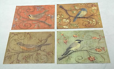 """Laser Printed Split Bamboo 12""""x18"""" Placemat, Set of 4 - Different Design Per PC"""