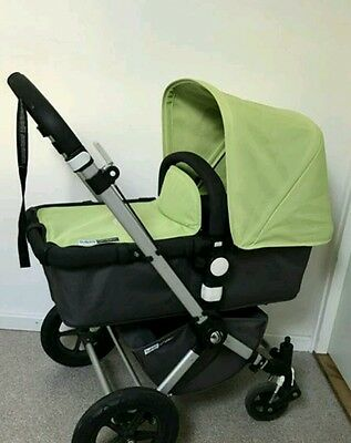 Bugaboo cameleon limited edition green canvas fabric set only, Hood and apron