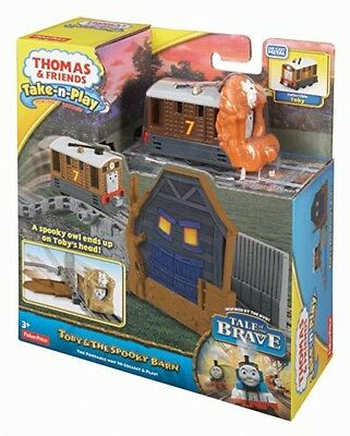 Fisher Price Thomas & Friends Take N Play Toby & The Spooky Barn Brand New Bcx30