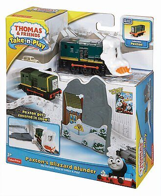 Fisher Price Thomas & Friends Take N Play Paxtons Blizzard Blunder Bnib Bcx29