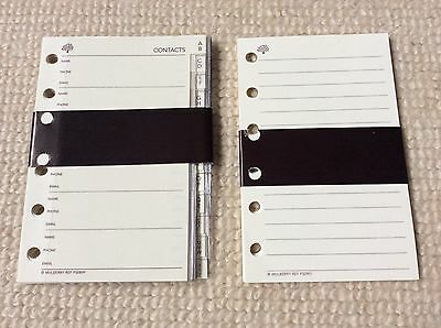Mulberry POCKET BOOK ADDRESS / CONTACTS PAGES with Plastic Covers plus PAPER