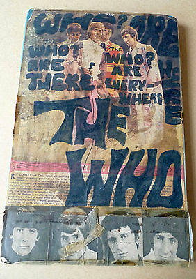 """THE WHO 10"""" x 15"""" 60's Vintage Fan Scrap Book ONE OFF RARITY Townshend"""