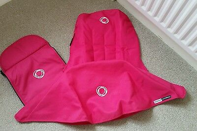 Bugaboo cameleon 1 2 & 3 pink canvas fabric set Hood, apron and seat cover