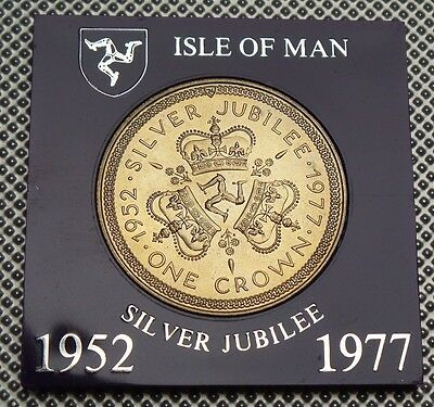 1977 Isle Of Man Crown Coin Silver Jubilee Collection