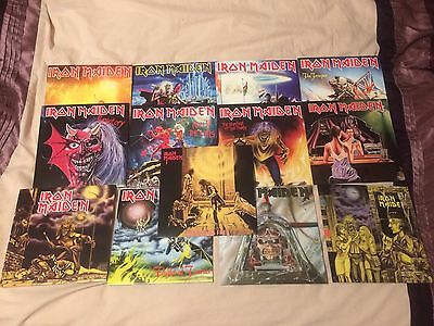 Iron Maiden 13x7in 2014 Vinyl Reissue Records Mint And Unplayed