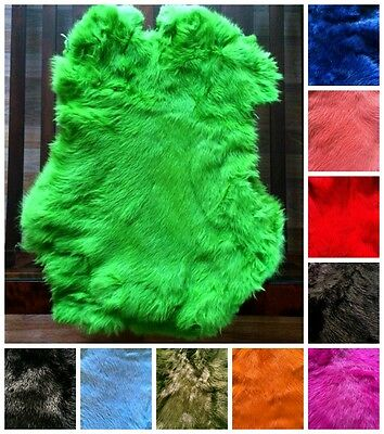 High Quality Dyed Rabbit Skin Pelt Real Fur - Available In Many Colours