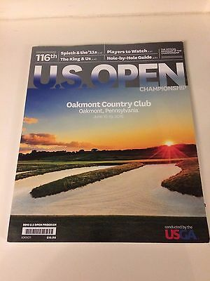 2016 US OPEN GOLF- Oakmont Country Club- JUNE 2016- OFFICIAL PROGRAMME