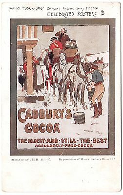 CADBURY'S COCOA ADVERTISING POSTCARD by TUCK CELEBRATED POSTERS 1903 GOOD COND.