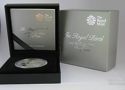 2013 The Royal Birth £5 Silver proof coin +COA+Case+Outer Packaging