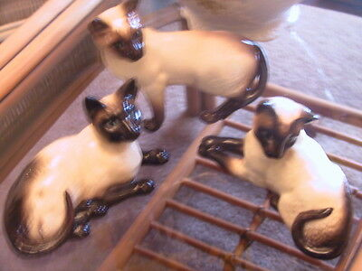 Collection of three Beswick listed cats